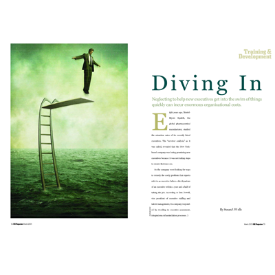 Diving In, March 2005, HR Magazine